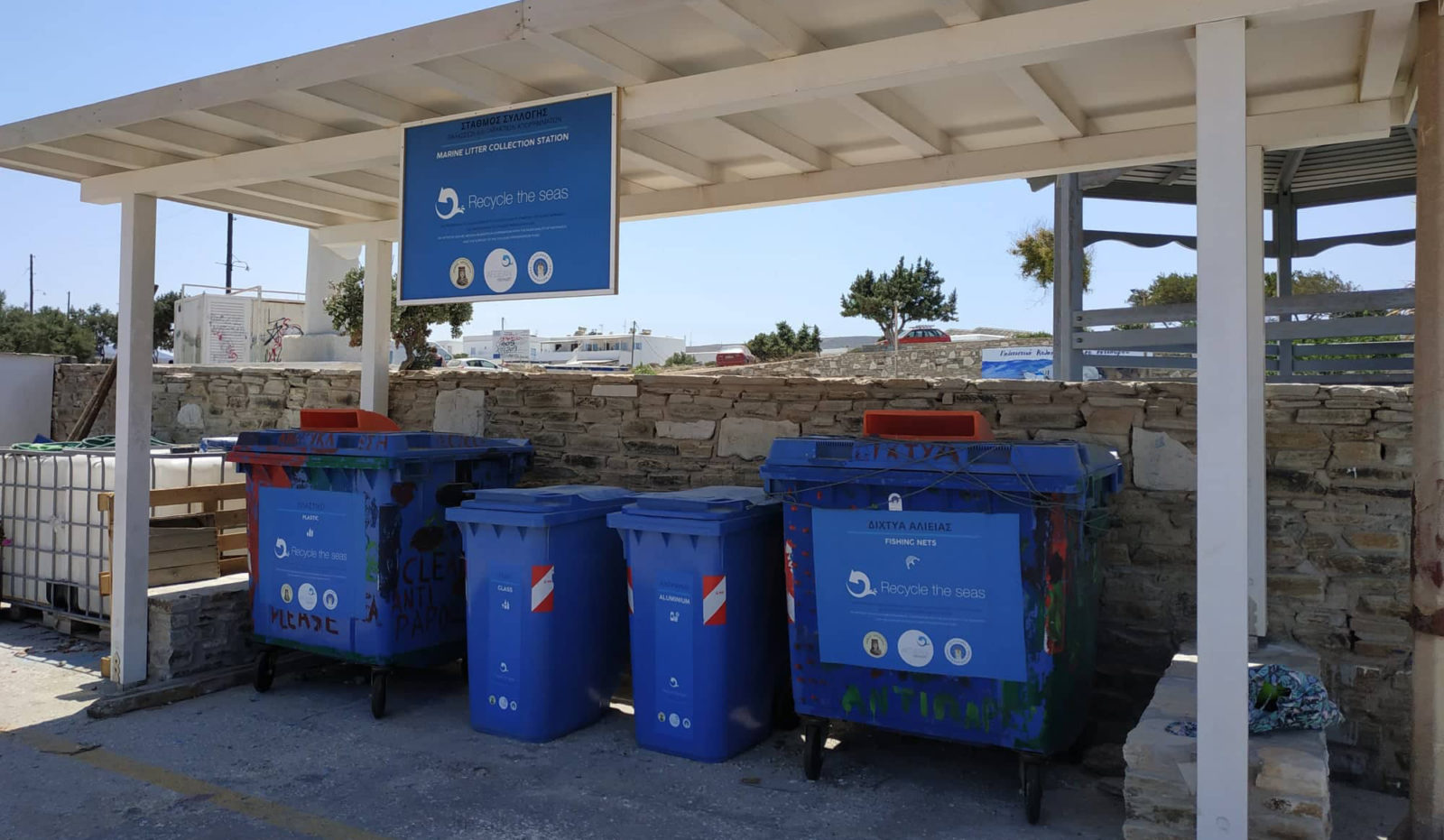Aegean Rebreath Marine Litter Station Antiparos