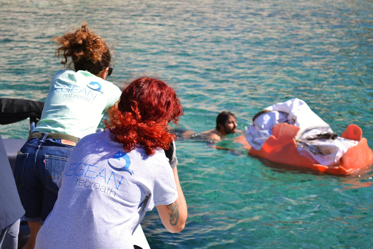 Underwater Cleaning in Antiparos October 2020 | Aegean Rebreath