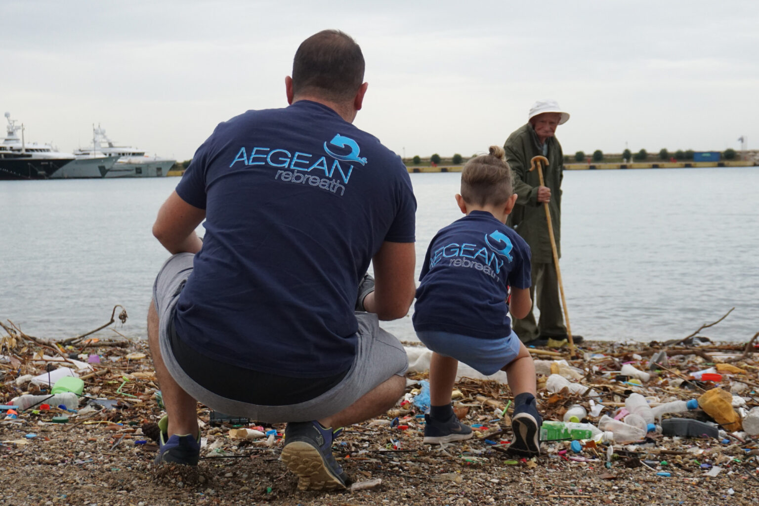 Coastal Cleaning in Peace & Friendship Stadium | Aegean Rebreath